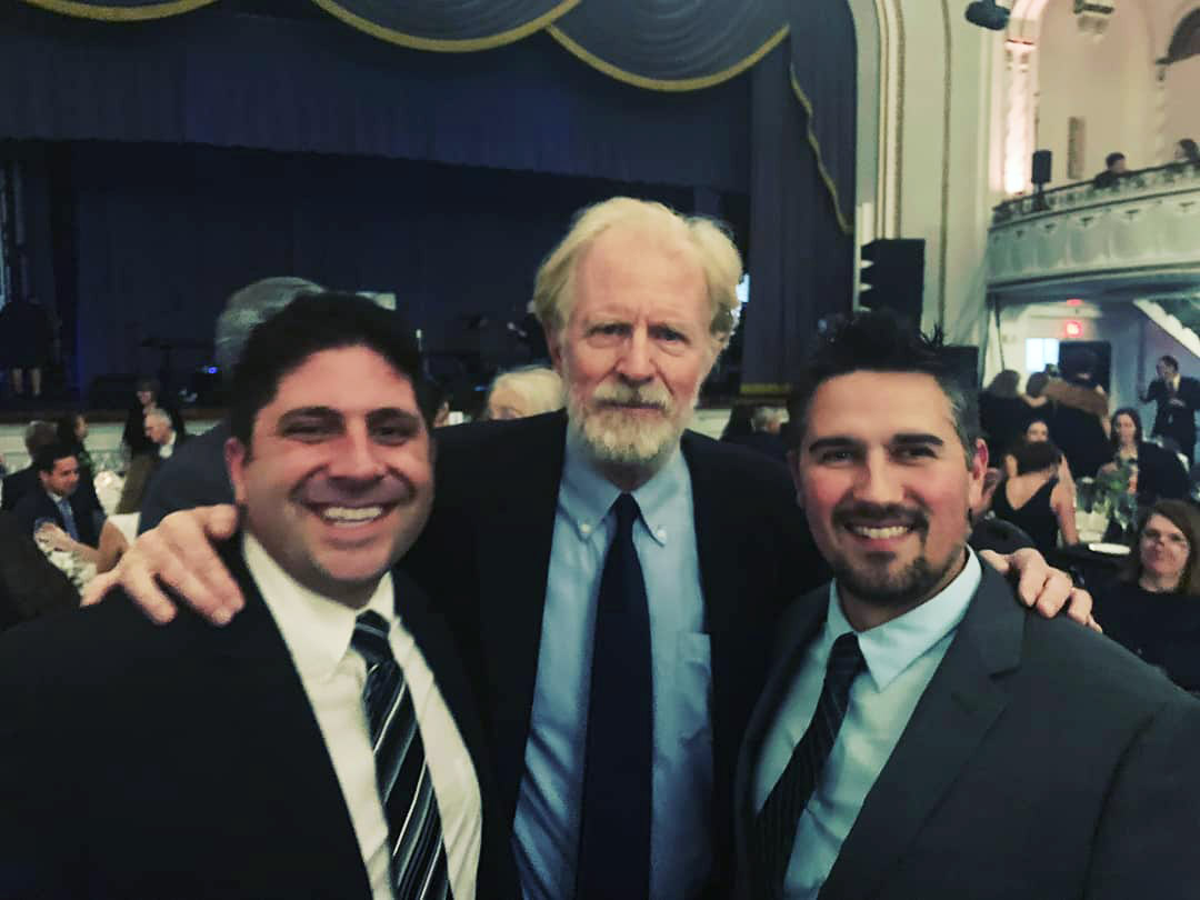 Ian and Nate with Ed Begley Jr.