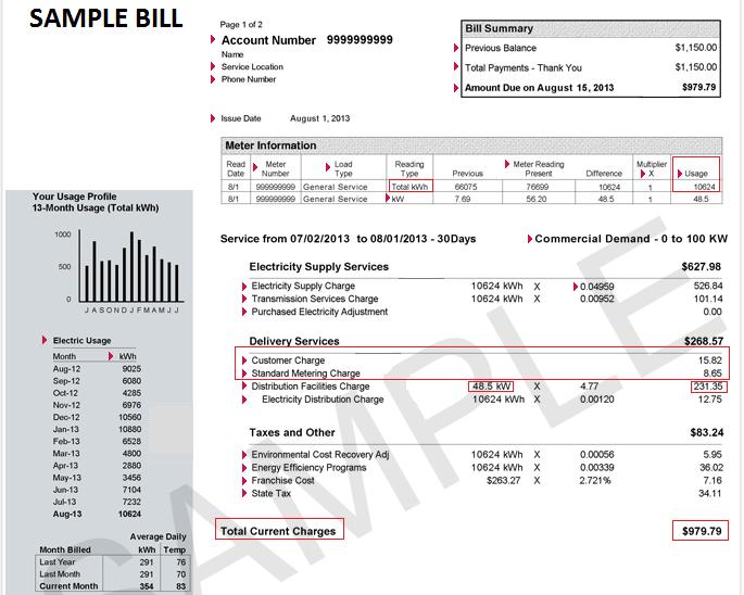 Sample Bill